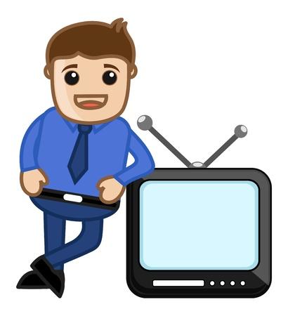 TV Presenter Stock Vector - 20771639