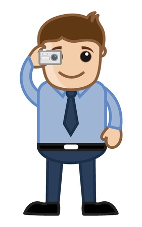 Man Taking Picture Stock Vector - 20771683
