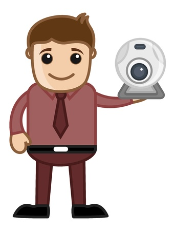 Web Cam with Office man Character Stock Vector - 20771884