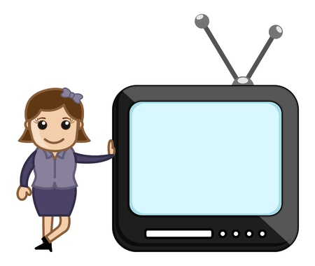 TV Presentation by a woman Stock Vector - 20771485