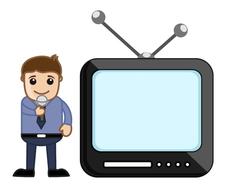 anchorman: Male TV Reporter Illustration