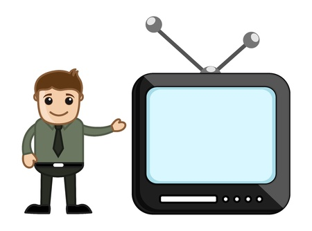 Male Presenter Stock Vector - 20771250