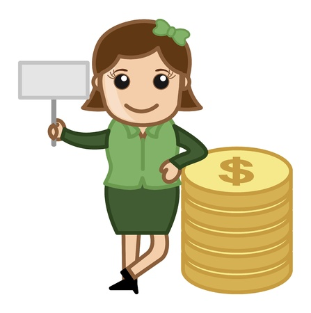 penny: Affiliate Income - Vector Illustration