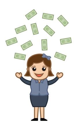 Money Rain - Vector Illustration Stock Vector - 21073712