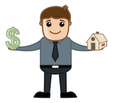 Real Estate Business - Vector Illustration Vector