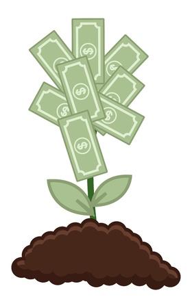 Tree of Money - Vector Illustration Illustration
