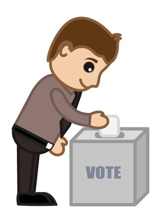 Voting - Cartoon Office Vector Illustration Vector