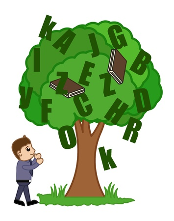 Knowledge Tree - Office Character Vectors Vector