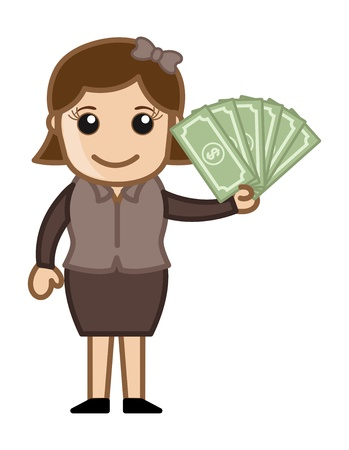 increment: Earn Cash - Business Cartoon Vectors