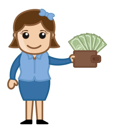 increment: Affiliate System - Easy Way to Earn Cash - Business Cartoon Vectors