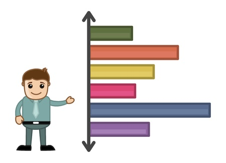 Man Presenting Stats on Graph Stock Vector - 21098185