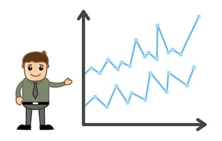 Man Presenting Graph - Business Cartoon Character Vector Stock Vector - 21098186