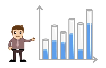 Man with Graph Chart Stock Vector - 21098194