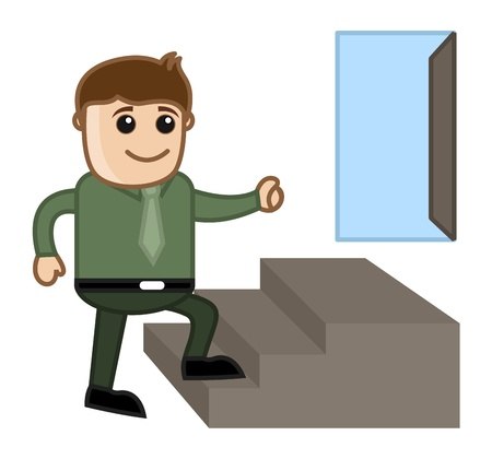 New Opportunity Concept - Business Cartoon Character Vector Vector