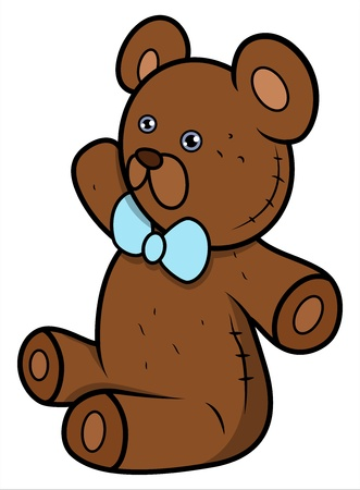 teddy bear cartoon: Teddy Bear - Cartoon Vector Illustration