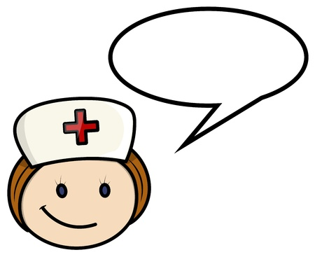 Nurse Saying - Vector Cartoon Illustration Vector