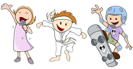 Kids - Various Profession - Vector Illustrations Vector