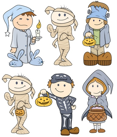 Halloween Cute Kids Vector Illustration Illustration