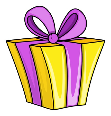 gift wrapped: Cartoon Gift Box - Vector Illustrations