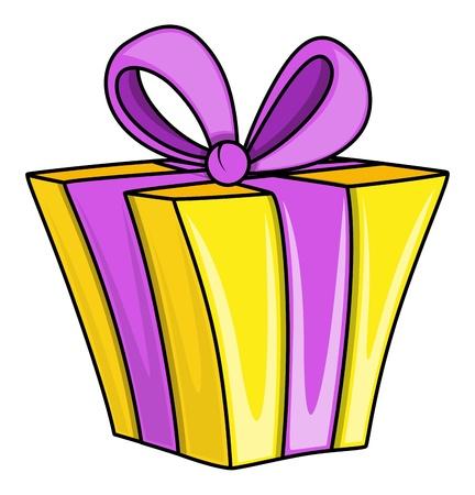Cartoon Gift Box - Vector Illustraties