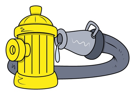 Hydrant Rescue Water Pipe - Vector Illustrations Vector