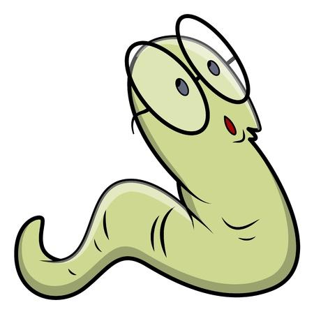 bookworm: Bookworm - Vector Illustrations Illustration