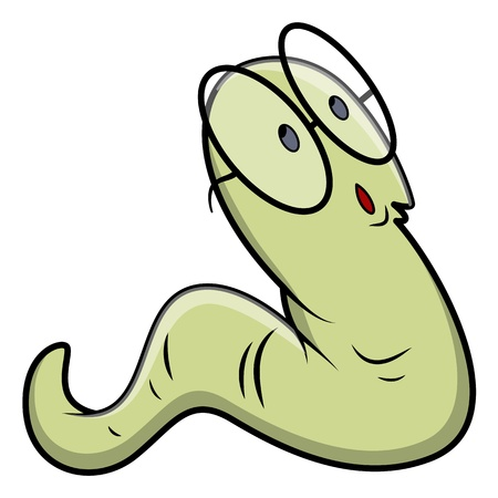 bücherwurm: Bookworm - Vektor Illustrationen
