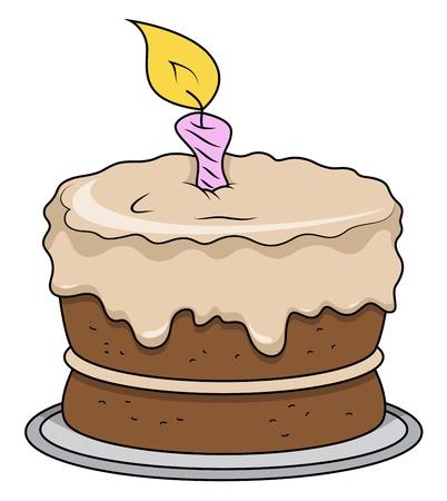 christmas cake: Cartoon Cake - Vector Illustrations