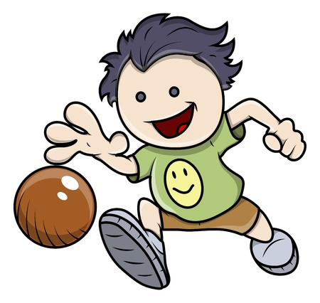 Kid Playing Ball - Vector Illustrations Stock Vector - 21098354