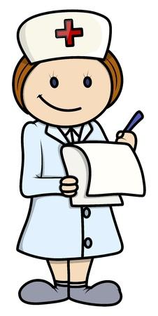 infermiere paziente: Nurse - cartoon illustrazione vettoriale