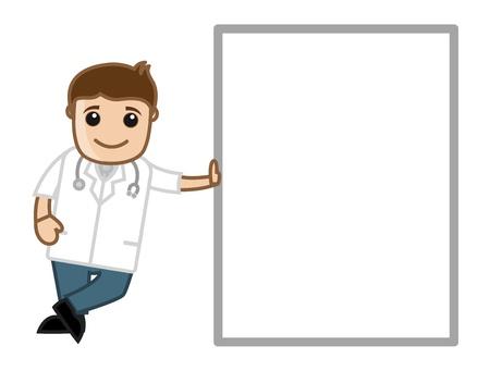 Medical Cartoon Character - Doctor Ilustração