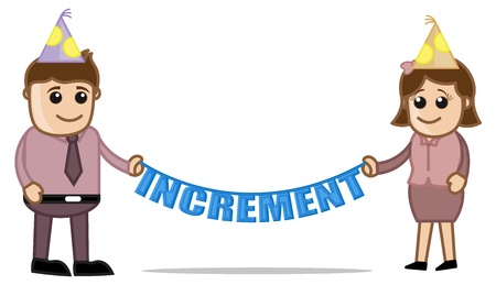 increment: Increment Day - Cartoon Business Characters