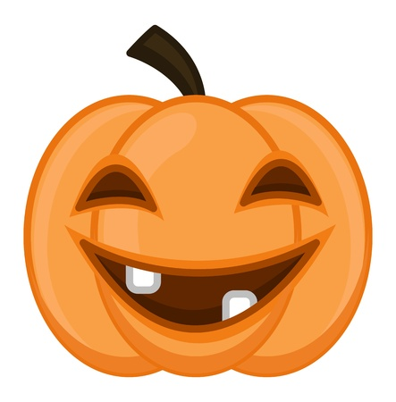 frightful: Jack O  Lantern on Halloween Illustration