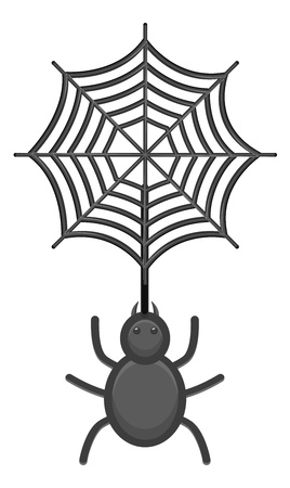 Web and Spider Vector Illustration Stock Vector - 21192151