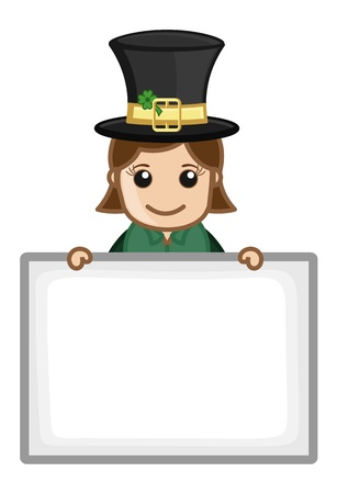 Happy St  Patrick s Day - Business Cartoon Characters Vector