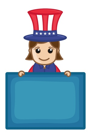 Happy Independence Day - Business Cartoon Characters Vector