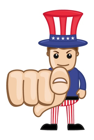 We Want You - Uncle Sam - Business Cartoon Characters Vector