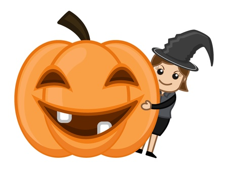 Happy Halloween - Business Cartoon Characters Vector
