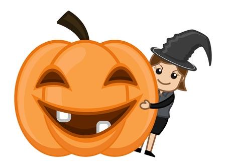 Happy Halloween - Business Cartoon Charaktere Standard-Bild - 21233503