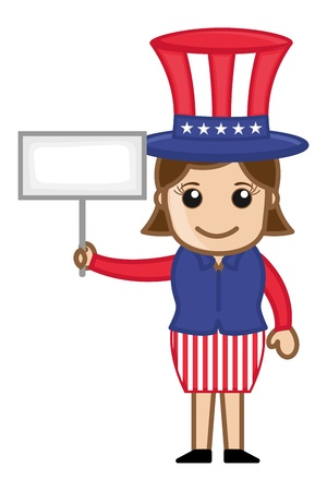 4th of July - Business Cartoon Characters Illustration
