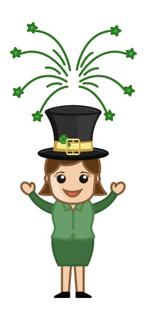 St  Patrick s Day Leprechaun Girl Stock Vector - 21233523