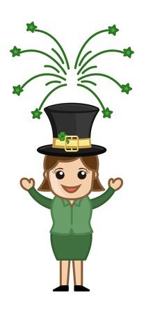 leprechaun girl: St  Patrick s Day Leprechaun Girl Illustration