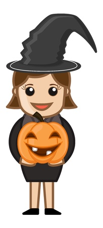 Halloween Girl Vector