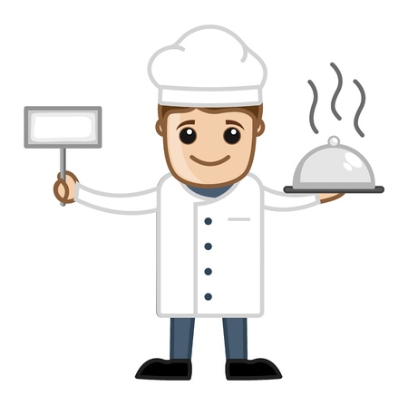 Cook with Food - Cartoon Business Vector Character Vector