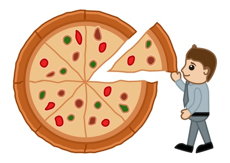Food Diet Balance - Pizza - Cartoon Business Vector Character Vector