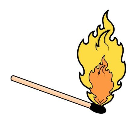 Matchstick Flame - Vector Illustration Vector