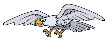 Eagle - Cartoon ilustraci�n vectorial