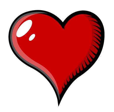 Retro Heart Tattoo Cartoon - Vector Illustration