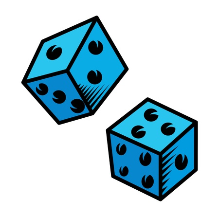 Cartoon Dice - Vector Illustration Vector
