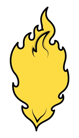 Cartoon Flame - Perfect for Illustration Background - Vector Illustration Vector